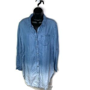 Holding Horses Ombre Chambray Button Shirt Size M